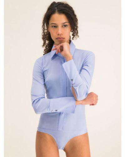 Bluzka body - niebieski Patrizia Pepe