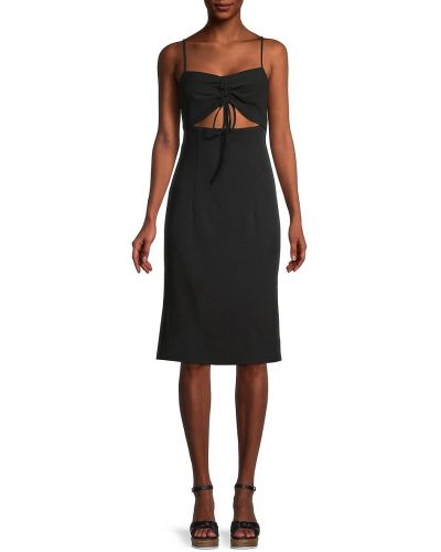 Платье с V-образным вырезом - черное Bcbgeneration