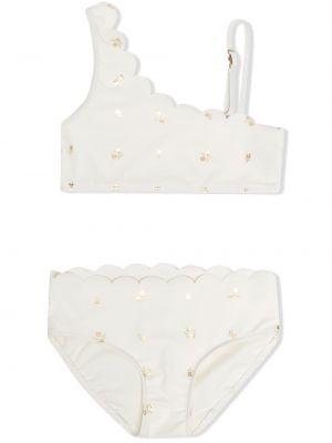 Biały złoty bikini z printem Chloé Kids
