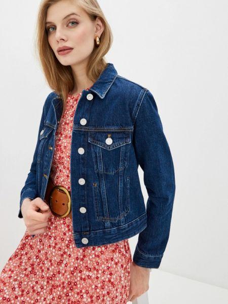 Синяя джинсовая куртка French Connection