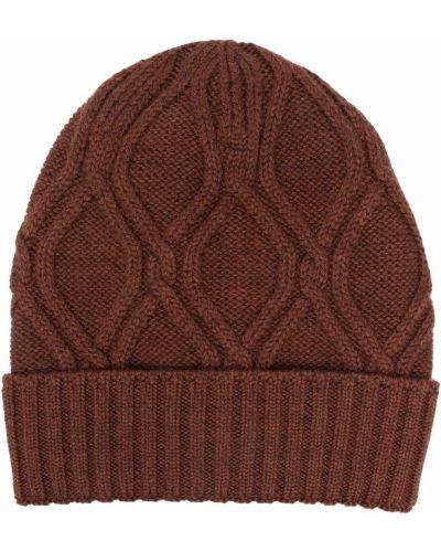 Brązowa czapka wełniana Lardini
