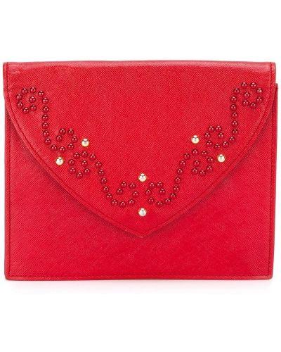 Кожаный клатч - красный Yves Saint Laurent Vintage