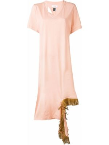 Хлопковое платье миди - розовое Facetasm