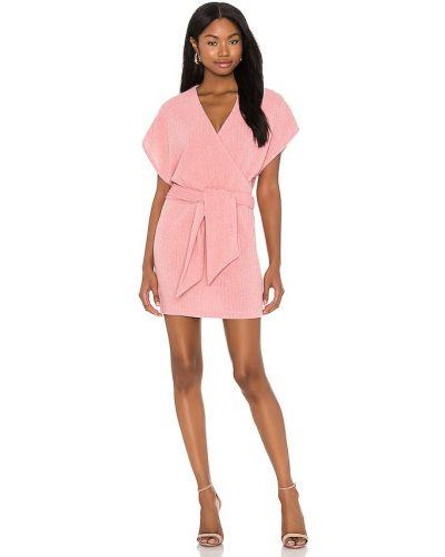 Różowa sukienka mini z akrylu Saylor