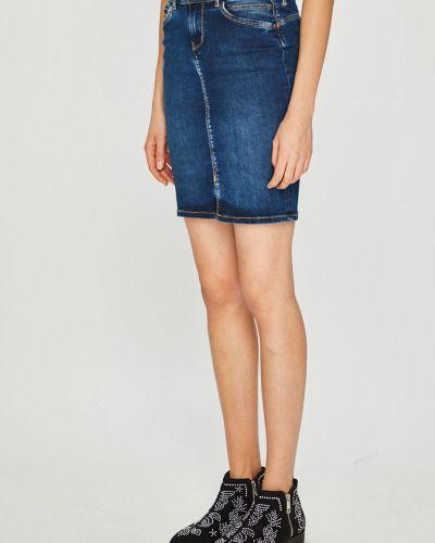 Юбка миди джинсовая на пуговицах Pepe Jeans
