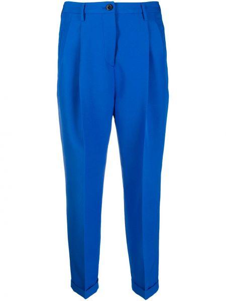Przycięte spodnie z kieszeniami z paskiem Alberto Biani