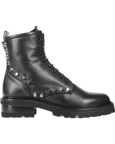 Кожаные ботинки - черные John Richmond