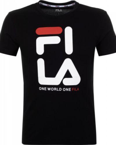 Спортивная футболка хлопковая черная Fila