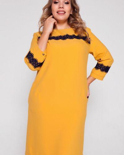 Желтое вязаное платье Eliseeva Olesya