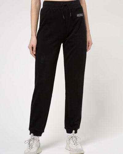 Czarne spodnie bawełniane Hugo