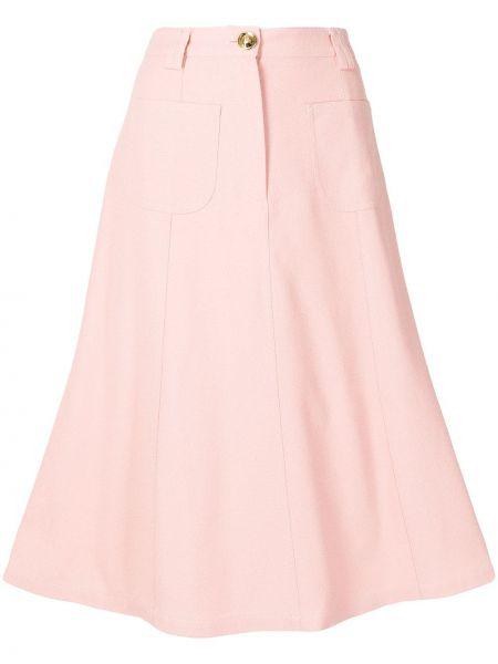 Różowa spódnica z paskiem Giambattista Valli