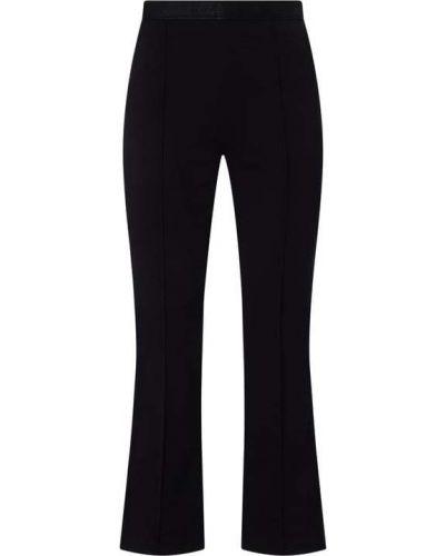 Czarne spodnie materiałowe rozkloszowane Wolford