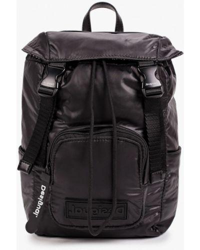 Текстильный городской черный рюкзак Desigual