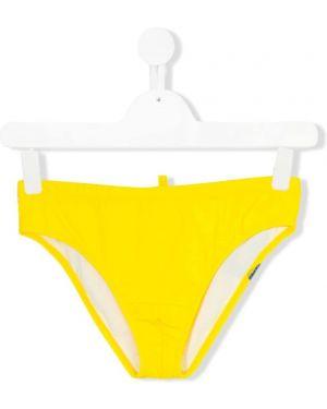 Kąpielówki - żółte Dsquared2 Kids
