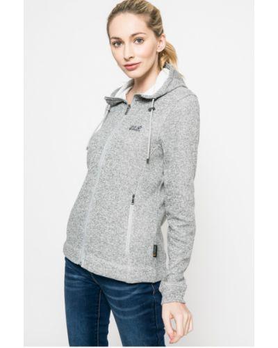 Утепленная куртка с капюшоном на резинке прямая Jack Wolfskin