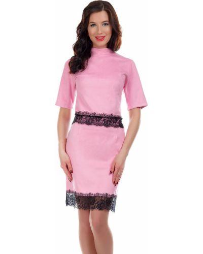 Костюм розовый замшевый Liza Fashion