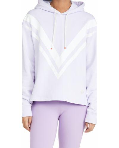 Фиолетовая махровая худи с принтом Tory Sport