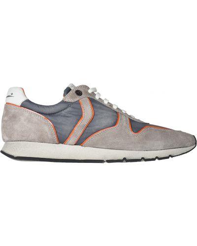 Бежевые кроссовки замшевые Voile Blanche