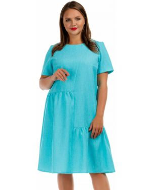 Летнее платье мини бирюзовый Liza Fashion