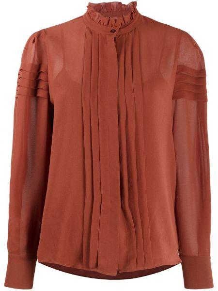 Блузка из вискозы - коричневая See By Chloé
