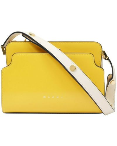Żółta torebka skórzana Marni