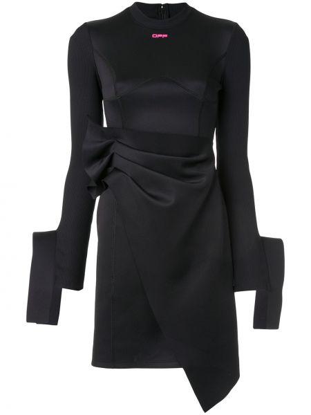 Платье мини с запахом в рубчик Off-white
