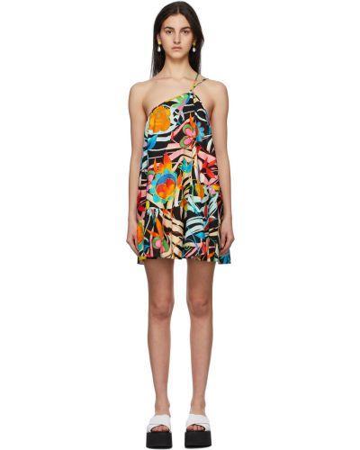 Sukienka mini bawełniana - czarna Collina Strada