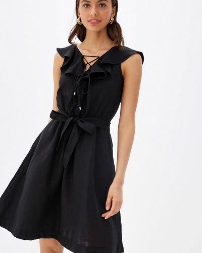 Платье прямое черное Karen Millen