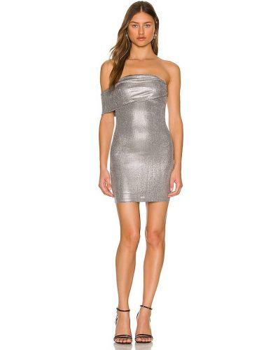 Sukienka mini srebrna Superdown