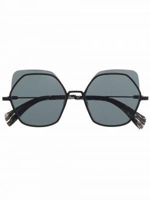 Czarne okulary oversize Yohji Yamamoto