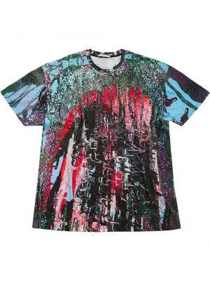 T-shirt bawełniana - różowa Christopher Kane