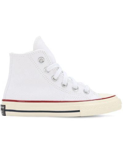 Bawełna ażurowy biały sneakersy na sznurowadłach Converse