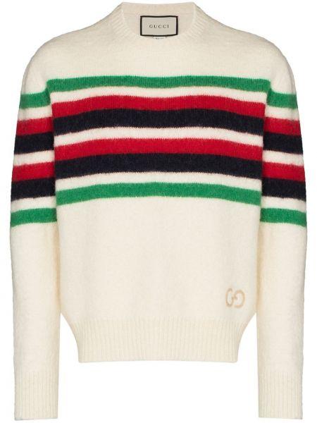 Biały sweter z alpaki Gucci