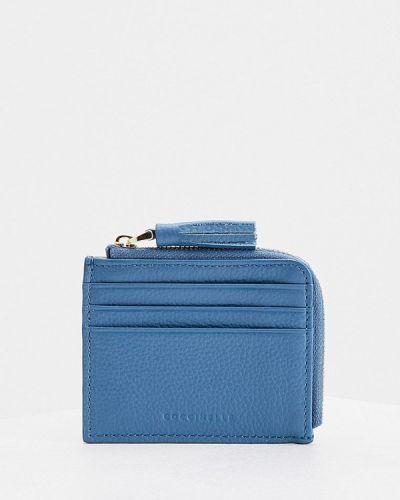 Голубой кожаный кошелек Coccinelle