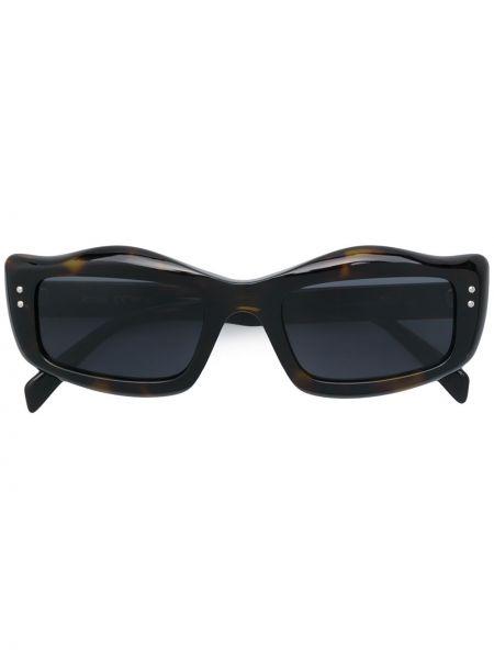 Прямые муслиновые солнцезащитные очки квадратные хаки Moschino Eyewear