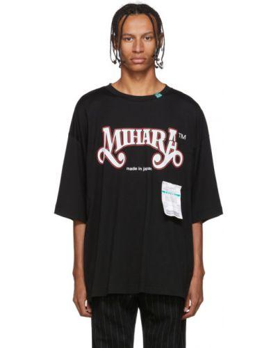 Czarny t-shirt bawełniany Miharayasuhiro