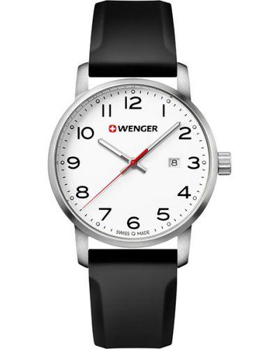 Часы водонепроницаемые с подсветкой белые Wenger