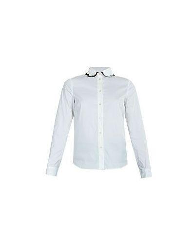 Белая хлопковая рубашка Valentino Red