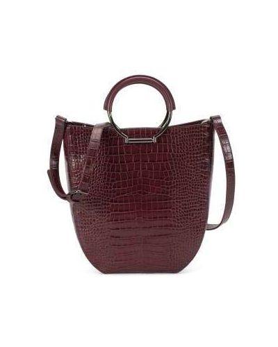 Черная текстильная сумка с ручками круглая с тиснением Ekonika
