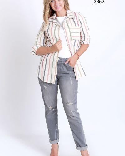 Свободная блузка в полоску свободного кроя Big Dart