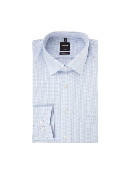 Niebieska koszula z długimi rękawami Olymp