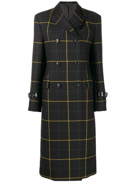 Черное пальто классическое с воротником с капюшоном Paul Smith