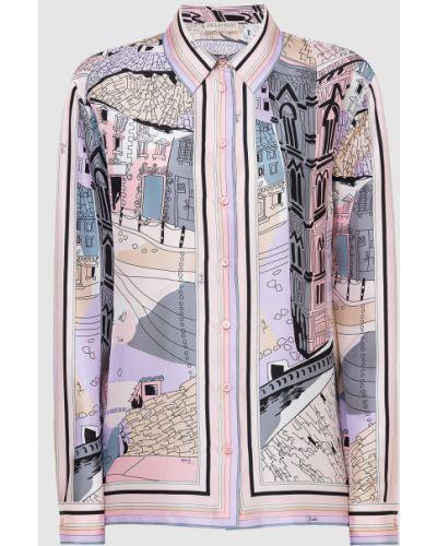 Розовая шелковая блузка Emilio Pucci