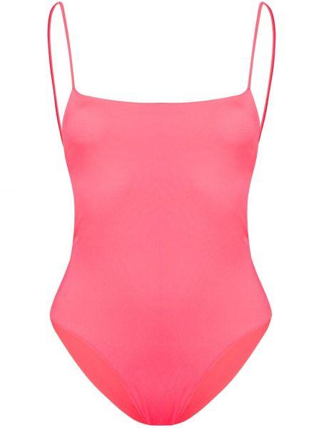 Плюшевый розовый слитный купальник Sian Swimwear