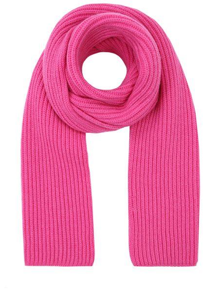Вязаный кашемировый розовый классический шарф вязаный Malo