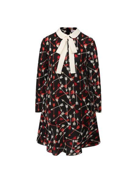 Платье с отложным воротником шелковое Redvalentino