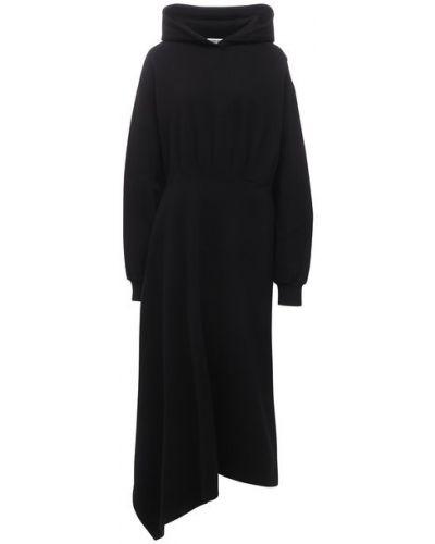 Хлопковое платье - черное Balenciaga