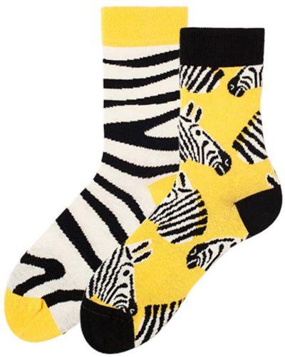 Хлопковые белые носки высокие с рисунком Sammy Icon