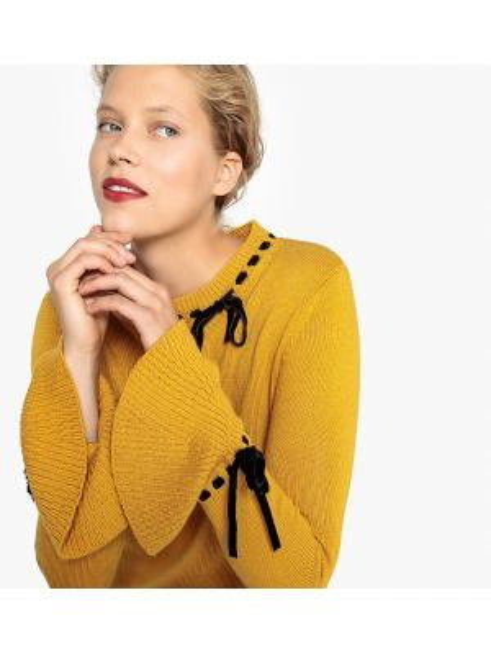 Пуловер с бантом длинный Mademoiselle R