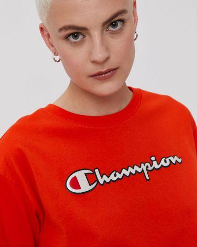 Top bawełniany casual z printem Champion